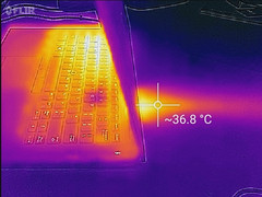 Thermal profile, max load, side