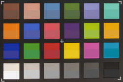 ColorChecker Passport: Target colors are represented in the lower half of each field