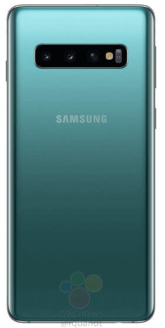 Samsung Galaxy S10 in green. (Source: WinFuture)