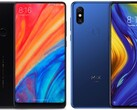 The Xiaomi Mi Mix 2S and Xiaomi Mi Mix 3 were both released in 2018. (Image source: Xiaomi - edited)