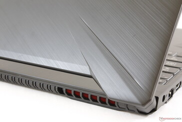 The Asus TUF FX505DT offers an aluminum-coated lid on an otherwise plastic chassis.
