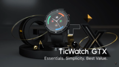 The new TicWatch GTX. (Source: Mobvoi)