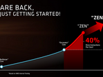 A 2016 product slide showing the planned Zen+ microarchitecture. (Source: AMD)