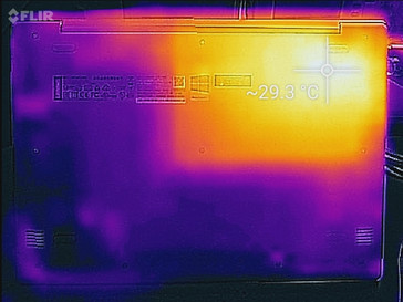 Thermal map (idle, bottom)
