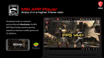 MSI App Player can take advantage of gaming features in MSI notebooks. (Image Source: MSI)