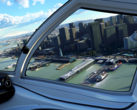 The all-new Flight Simulator features spectacular Azure AI-powered landscapes and skylines. (Source: Microsoft)