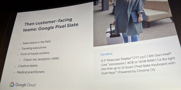 The second slide is focused on the Pixel Slate. (Source: 9to5Google)