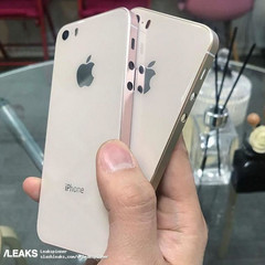 Purported image of the iPhone SE 2 case showing a glass back. (Source: Slashleaks)
