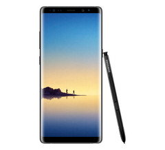 Samsung Galaxy Note 8 in Midnight Black, with included S Pen. (Source: Samsung)