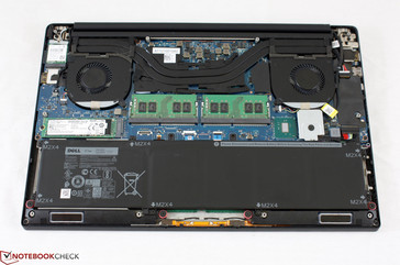 Consumer laptops with dedicated GPUs, such as the XPS 15, typically have a shared heatsink.