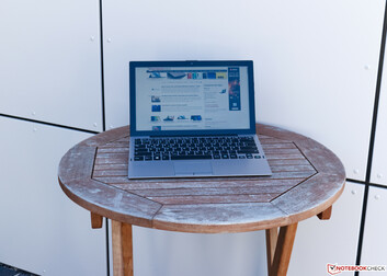 Using the VAIO A12 outdoors in the shade