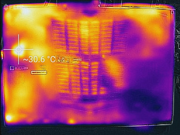 Thermal profile, bottom, idle