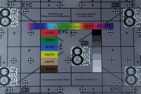Picture taken of test chart