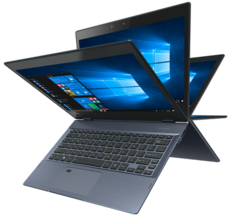 The X20W convertible offers high-end features like Thunderbolt 3 connection and Wacom pen support. (Source: Toshiba)