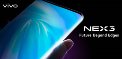 The Vivo NEX 3 ditches both side bezels and physical buttons for a Waterfall display and virtual buttons. (Source: Vivo)