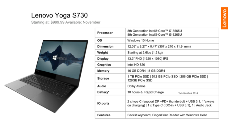 Lenovo Yoga S730 (Source: Lenovo)