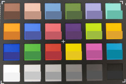 ColorChecker; reference color in the bottom half of each square.