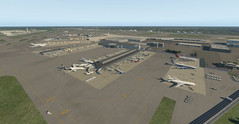 Default X-Plane 11 Miami airport. (Source: Laminar Research)