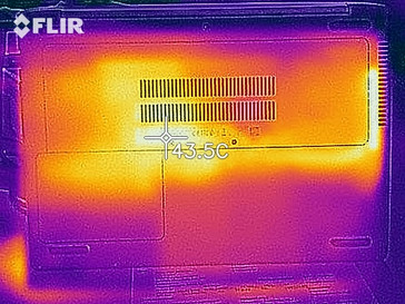Thermal imaging of the bottom of the device under load