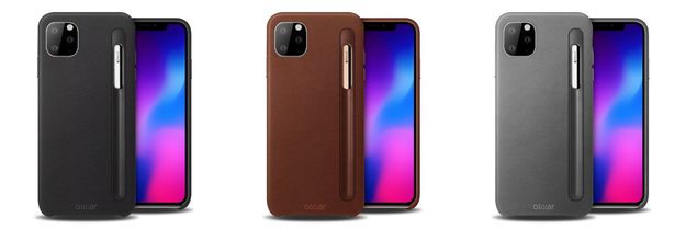 The Olixar leathery cases come in three color options. (Source: Mobilefun)