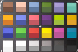 ColorChecker color card: the patch field below shows target colors.