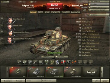 World of Tanks 0.7.0 - Pz 38 (t) in garage