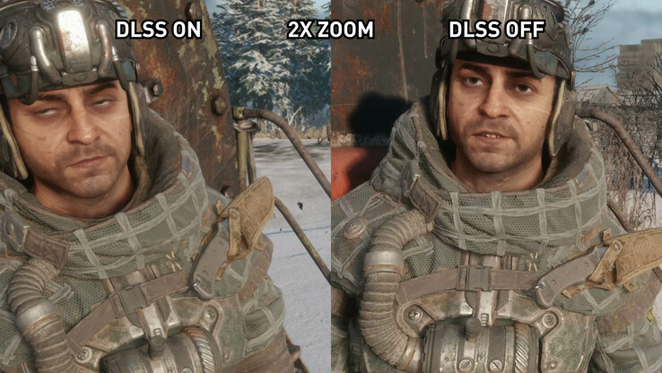 A slightly blurry scene while DLSS is enabled in METRO Exodus (Source: TechSpot)