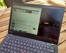 Lenovo ThinkPad T490 with Low Power FHD screen outdoors
