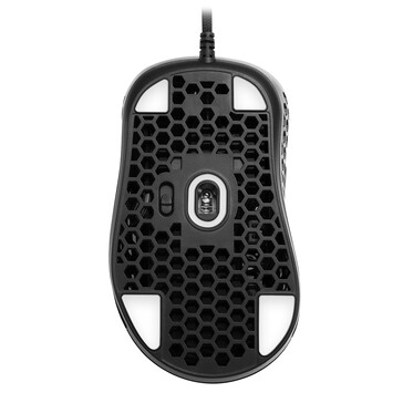 Sharkoon Light² 200 ultra light gaming mouse - From below: sensor, polling rate switch, feet