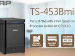 QNAP TS-453Bmini Vertical NAS with Intel J3455, 4K output and transcoding