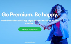 Spotify homepage detailed, Spotify has 70 million paid subscribers