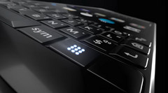 The new button on the KEY²'s physical keyboard could be for launching a dialpad or app drawer. (Source: The Verge/BlackBerry)