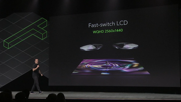 Presentation slide showing the screen resolution of the Oculus Go. (Source: Gizmodo)