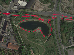GPS test: Apple iPhone 11 Pro Max - Cycling around a lake