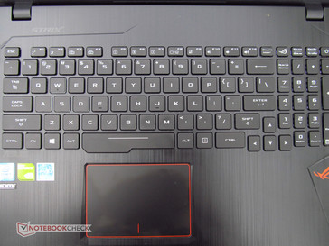 Keyboard deck and touchpad.