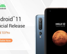 Android 11 for the global version of the Mi 10 Pro is here. (Image source: Xiaomi)