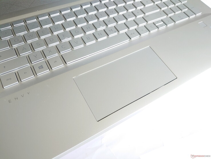 A closer look at the trackpad on the HP Envy 17-ce1002ng