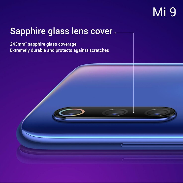 The Xiaomi Mi 9's main camera will have a protective cover. (Source: Twitter/Xiaomi UK)