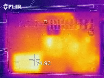 Heat map while idling - bottom