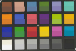 ColorChecker standard lens: The original colors are displayed in the power half of each patch.