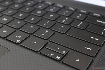 The left and right arrow keys are larger than on last year's model