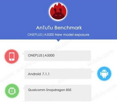 OnePlus 5 (model A5000) specs spotted on AnTuTu mid-May 2017