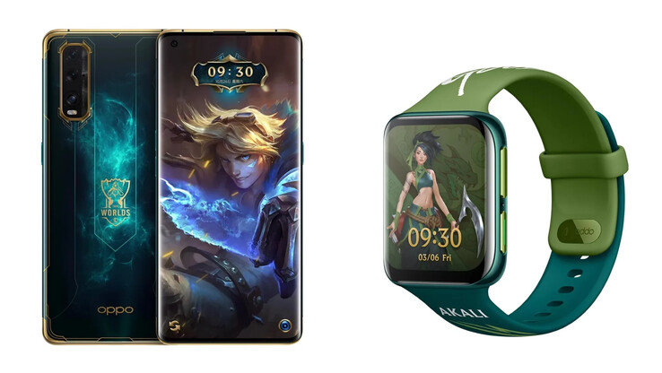 The League of Legends S10 Find X2 and Watch. (Source: OPPO)
