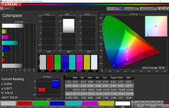 Color space (professional mode, target color space sRGB)