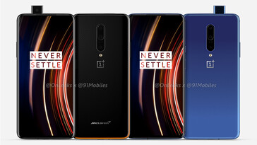 These new renders suggest little change for the putative OnePlus 7T Pro. (Source: OnLeaks via 91Mobiles)
