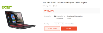 Acer Nitro 5 AN515-42-R41A. (Image source: Shopee)