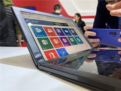 The foldable Lenovo ThinkPad X1 was on show in China. (Image source: Lenovo/ITHome)