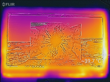 Thermal profile, front of unit