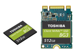 The M.2 2230 removable module allows OEMs to provide upgrade options for laptops and other mobile devices. (Source: Toshiba)