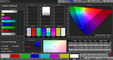CalMAN Color Space AdobeRGB – Vivid setting
